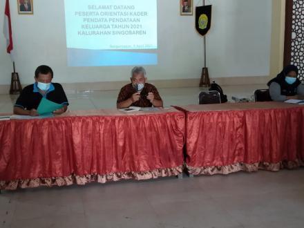 Orientasi Kader Pendata Pendataan Keluarga 2021 Kalurahan Singosaren