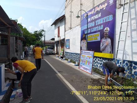 Kerjabakti Persiapan Launching dan Lomba Kampung Lalu Lintas